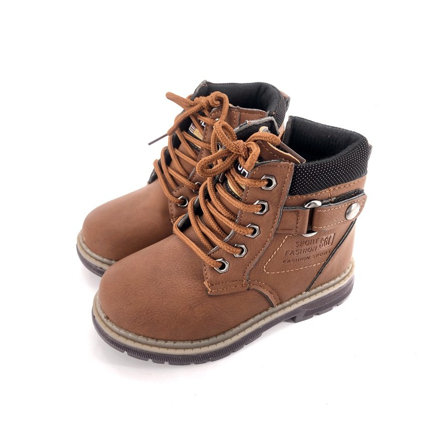 [New Arrival] Yebeng Nikkie Kids Children Boy Fashion Light Brown Boot 708
