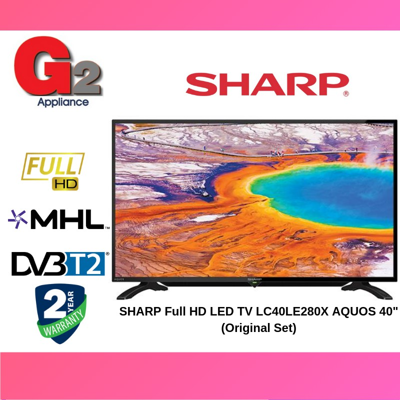 "SHARP Full HD LED TV LC40LE280X AQUOS 40"" (Original Set)"