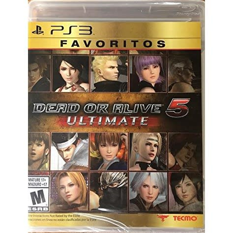 PS3 DEAD OR ALIVE 5 ULTIMATE (Zone 1 / US / English) แผ่นเกมส์ ของแท้ มือหนึ่ง มือ1 ของใหม่