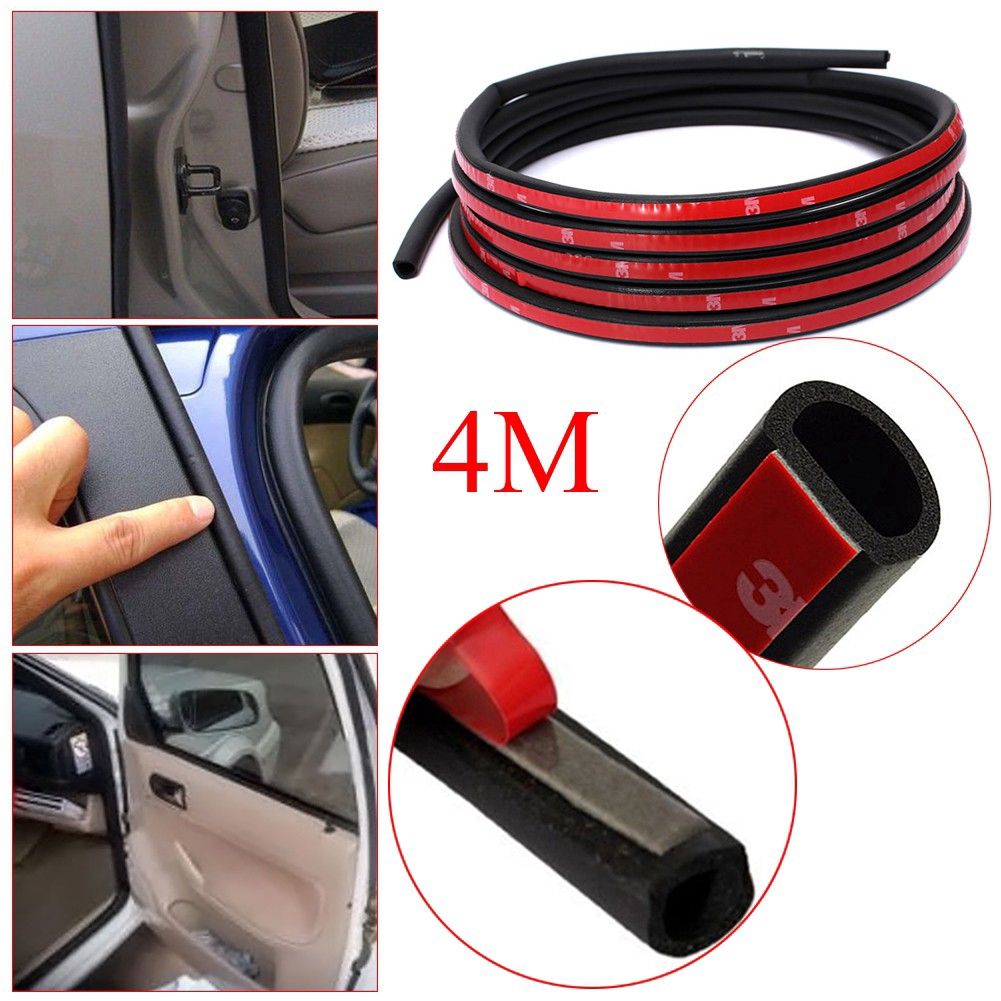 4M D-type Door Rubber Seal Hollow Strip Seal Roll For Car Truck Motor Van