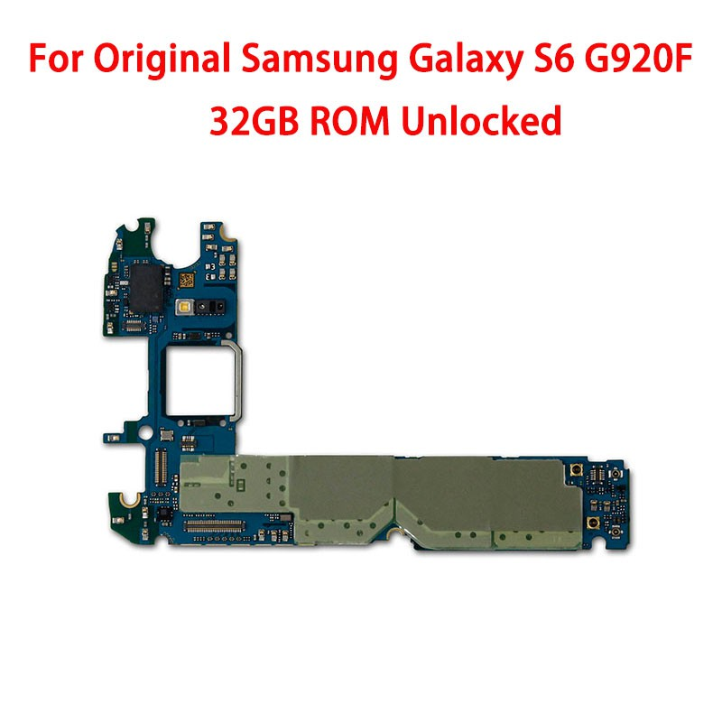 Original unlocked for Samsung Galaxy S6 G920F 32gb Motherboard Logic Boards