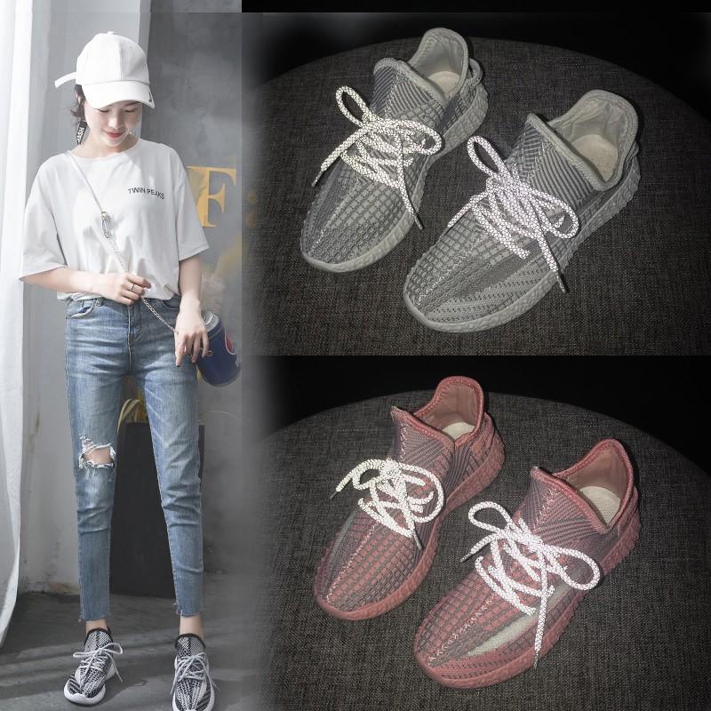 【สต็อกพร้อม】EU35-40 รองเท้ากีฬาแฟชั่นส่องสว่างสบาย ๆ รองเท้าผู้หญิงรองเท้าวิ่ง รองเท้าสตรี รองเท้ากีฬา เบาะลม รองเท