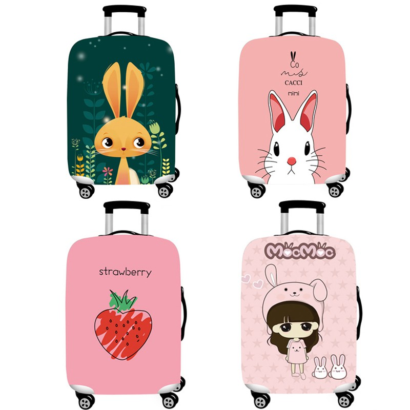 Travel Luggage Cover Suitcase Protector Cute Strawberry Baggage Covers