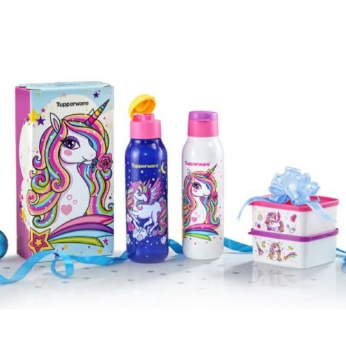 Spot discount hot style Tupperware Unicorn Collection Set (Full Set : 4pcs), My Little Pony 750ml