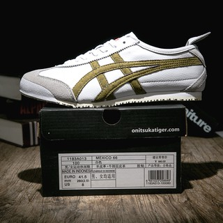 official photos 31546 ae0b1 Onitsuka Tiger Mexico 66 Cowhide White Gold
