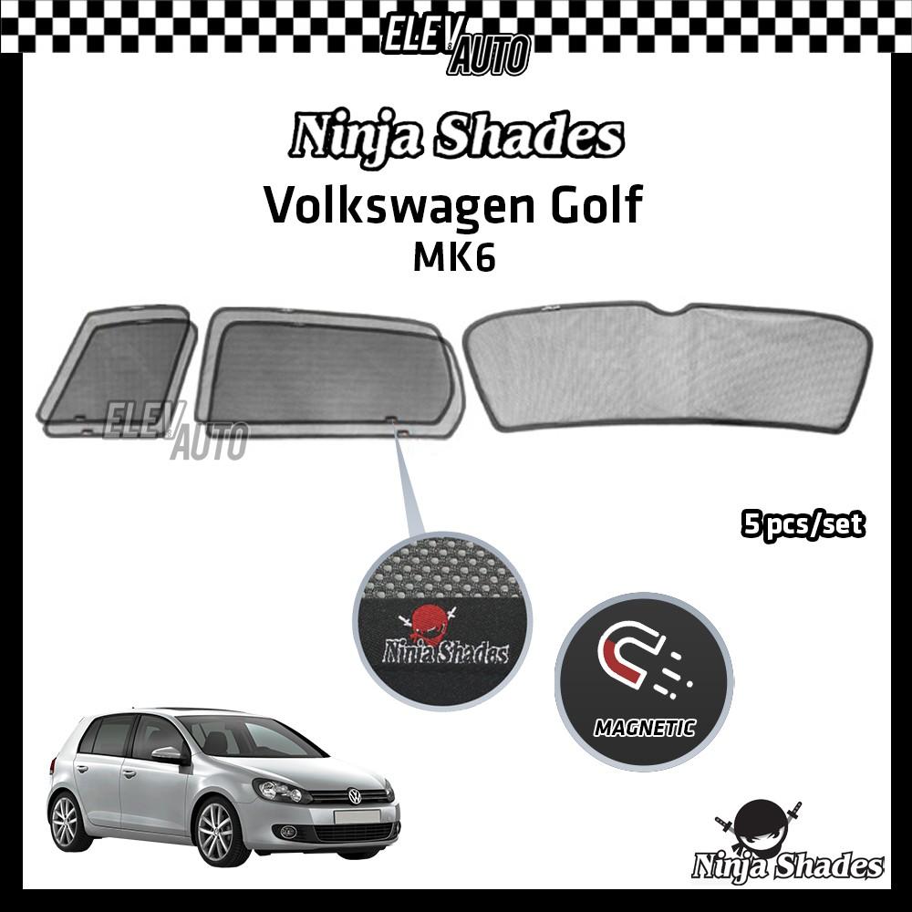 Volkswagen Golf MK6 Ninja Shades OEM Magnetic Sunshade