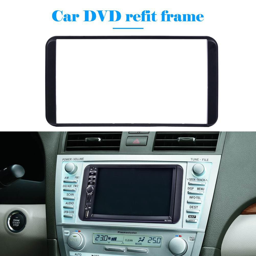 ♈2 Din Frame Car Stereo Radio Fascia Panel DVD Player Trim Kit for Camry