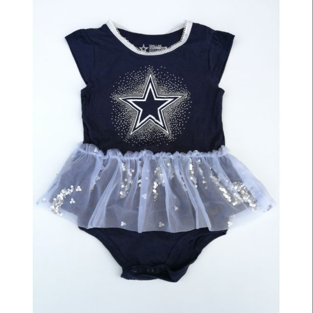 "Dallas Cowboys /""Girl/"" Pink Baby Short Sleeve Bodysuit"
