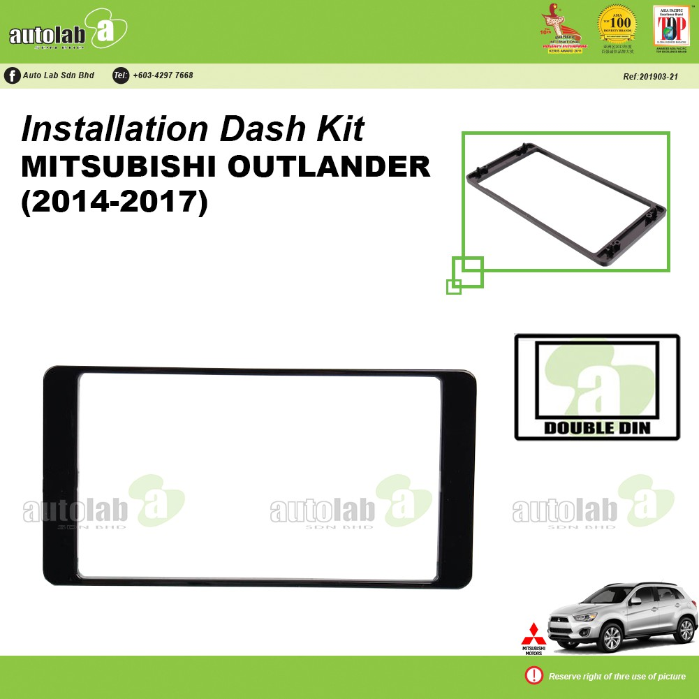 Player Casing Double Din Mitsubishi Outlander 2014-2017