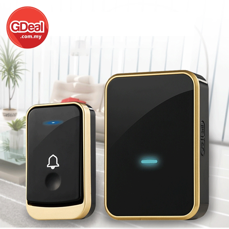 GDeal A150 Dual Use Smart Wireless Doorbell Punch Free Intelligent 40 Music Door Ring Music Loceng Rumah Digital