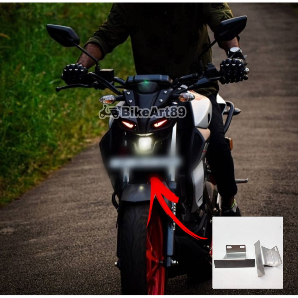 Yamaha Mt-15 Plate Holder Stainless Steel / Front Number Plate Bracket / License Plate / Tapak No Plate Depan