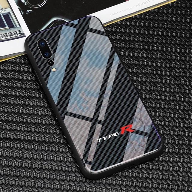 new styles d4885 d280d Huawei P20 pro carbon fiber glass phone case TYPE R/R/RS/S LINE/AMG/GTR////M