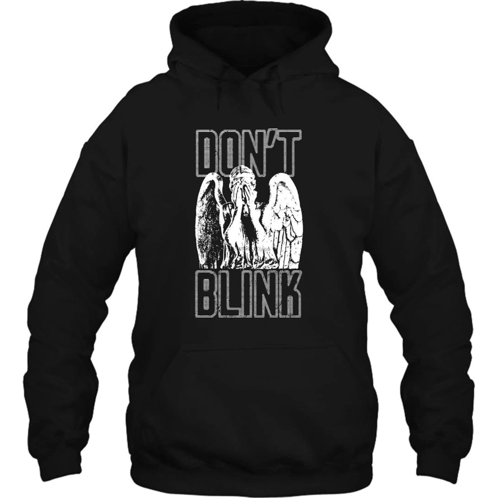 Black Size L The Doctor Who Dont Blink Weeping Angels Sweatshirt Hoodie