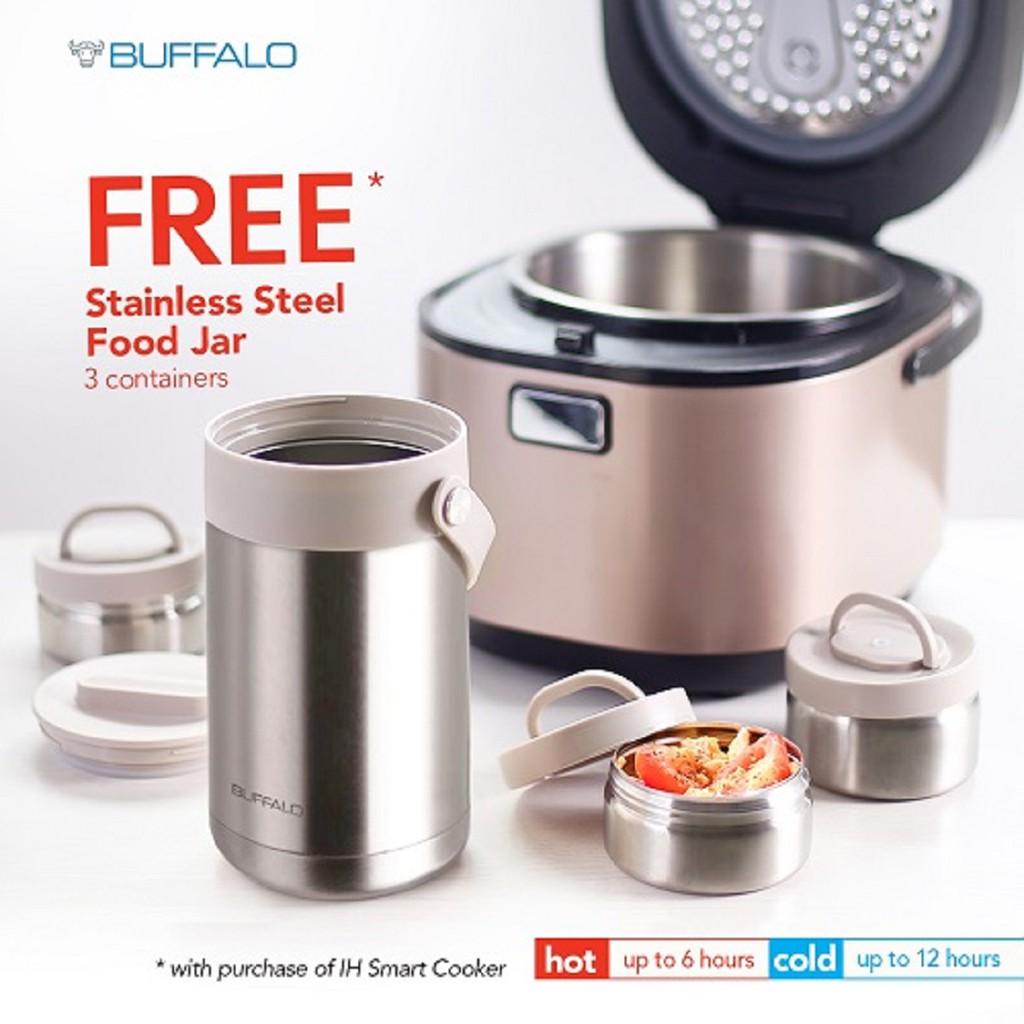 Buffalo 1.8L IH Smart Cooker FOC Food jar(Pre Order)