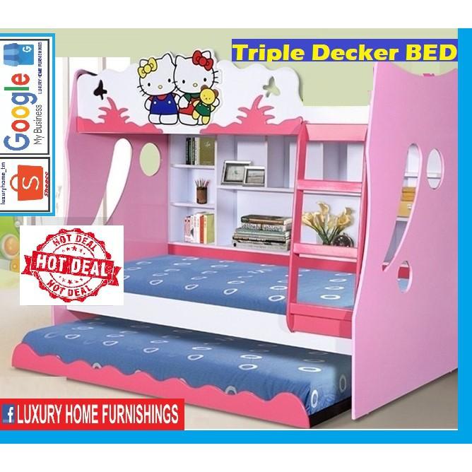 Triple Decker Bed, CRAZY SALE, EXPORT SERIES PRODUCT