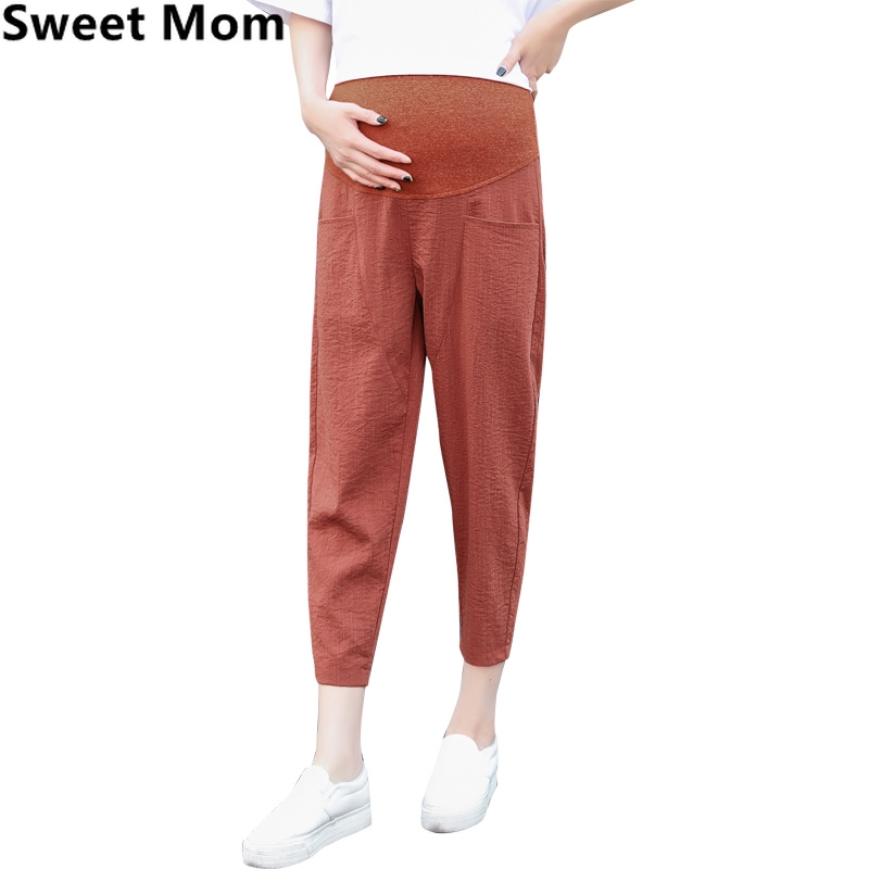 1cc8a6552cc2c ProductImage. ProductImage. Loose Summer Pregnant Women Casual Capris  Maternity Belly Trousers Harem Pants