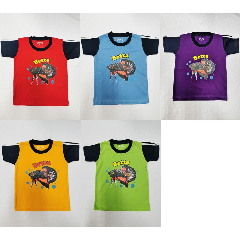 Baju budak lelaki perempuan Betta tshirt kids unisex