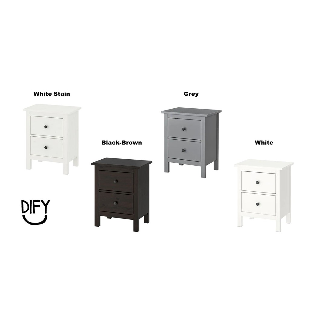 Ready Stock Ikea Hemnes Chest Of 2 Drawers Size 54x66cm