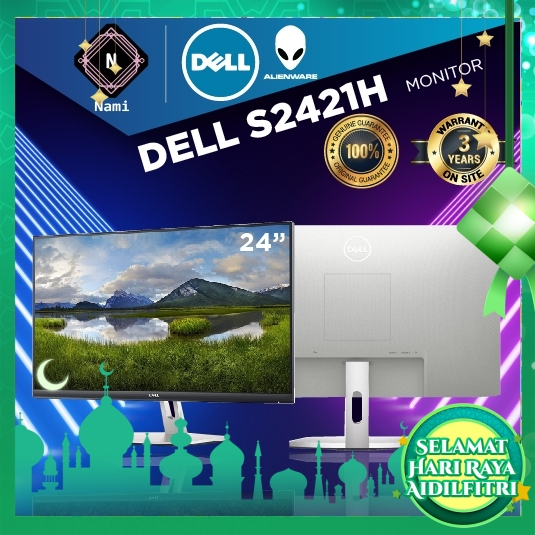 """Dell S2421H 24"""" Inch FHD IPS LED Monitor (1920x1080) with Built In Speaker"""