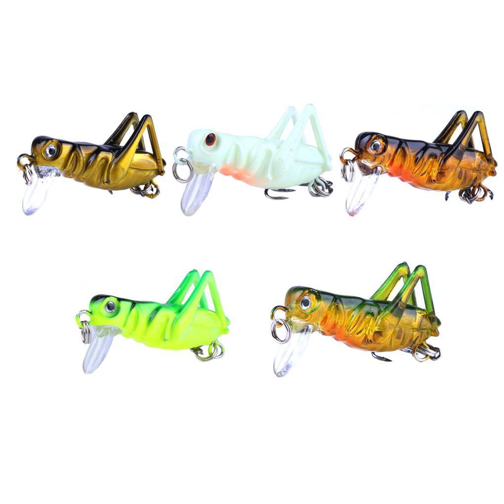 3 5cm/3g Colorful Vivid Cricket Shape Artificial Lake River Fishing Bait  _mar
