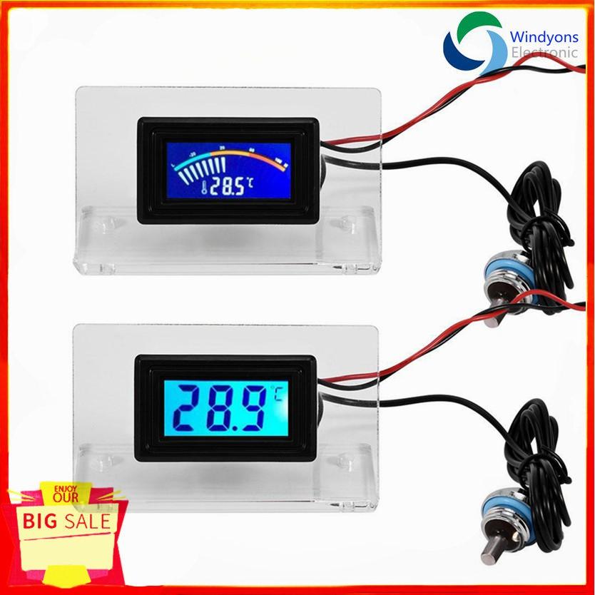 ❀Hot ❀ 45 89 * 25 11 * 16 90mm PC Water Cooling Temperature Detector  Digital LCD Screen Kit Frame Waterproof -50℃~110℃
