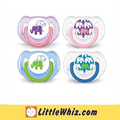 Philips Avent: Pacifier: Classic Orthodontic - Fashion Soother - Elephant Design - 6-18M - 2pcs (BEST BUY)