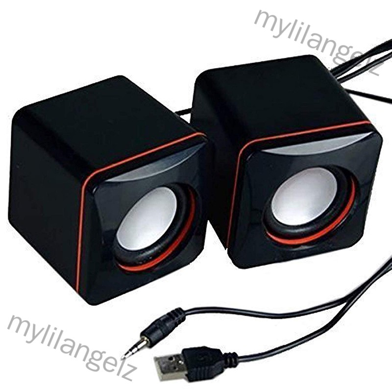 Mylilangelz Portable Computer Speakers USB Powered Desktop Mini Speaker Bass Sound Music Player System Wired Small Speak