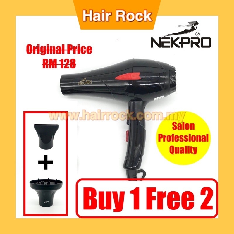 NEKPro 3000-13 Professional Hair Dryer 2200W with diffuser SY002