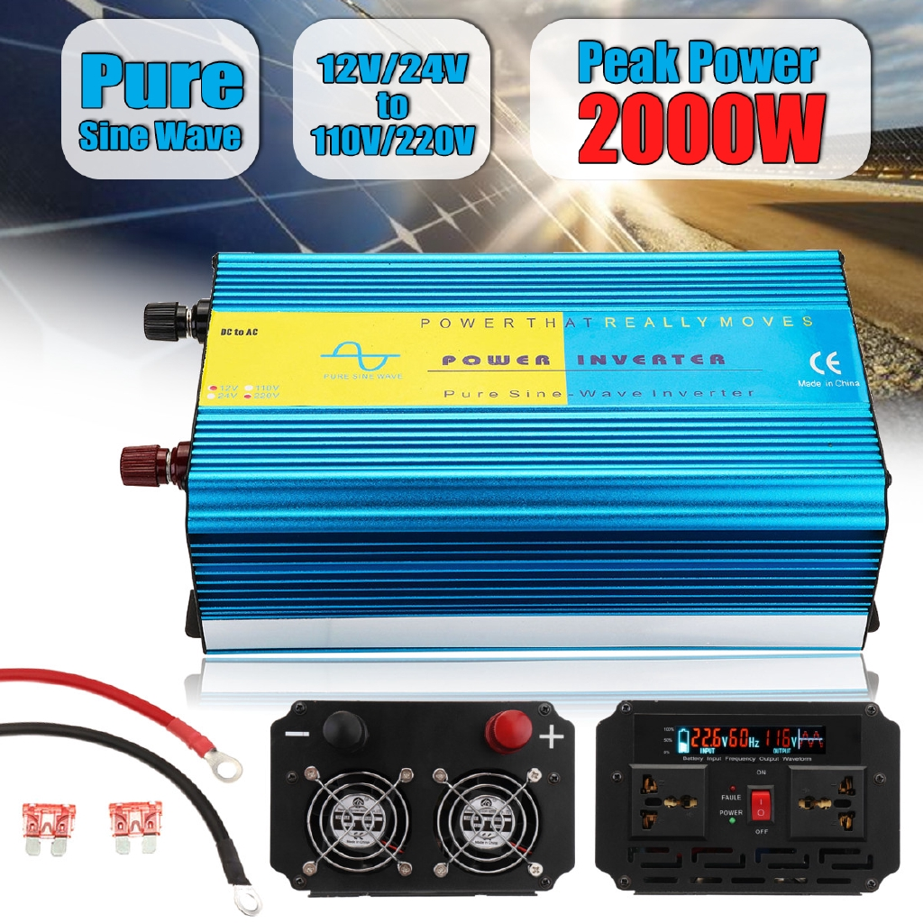 2000w Max 4000w 12v-220v Power Pure Sine Wave Inverter Car Caravan Camping Boaiy Photovoltaik-zubehör