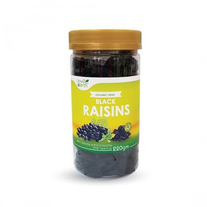 Love Earth Dried Fruits Black Raisins 220g 乐儿天然黑葡萄干 220公克 (瓶装)
