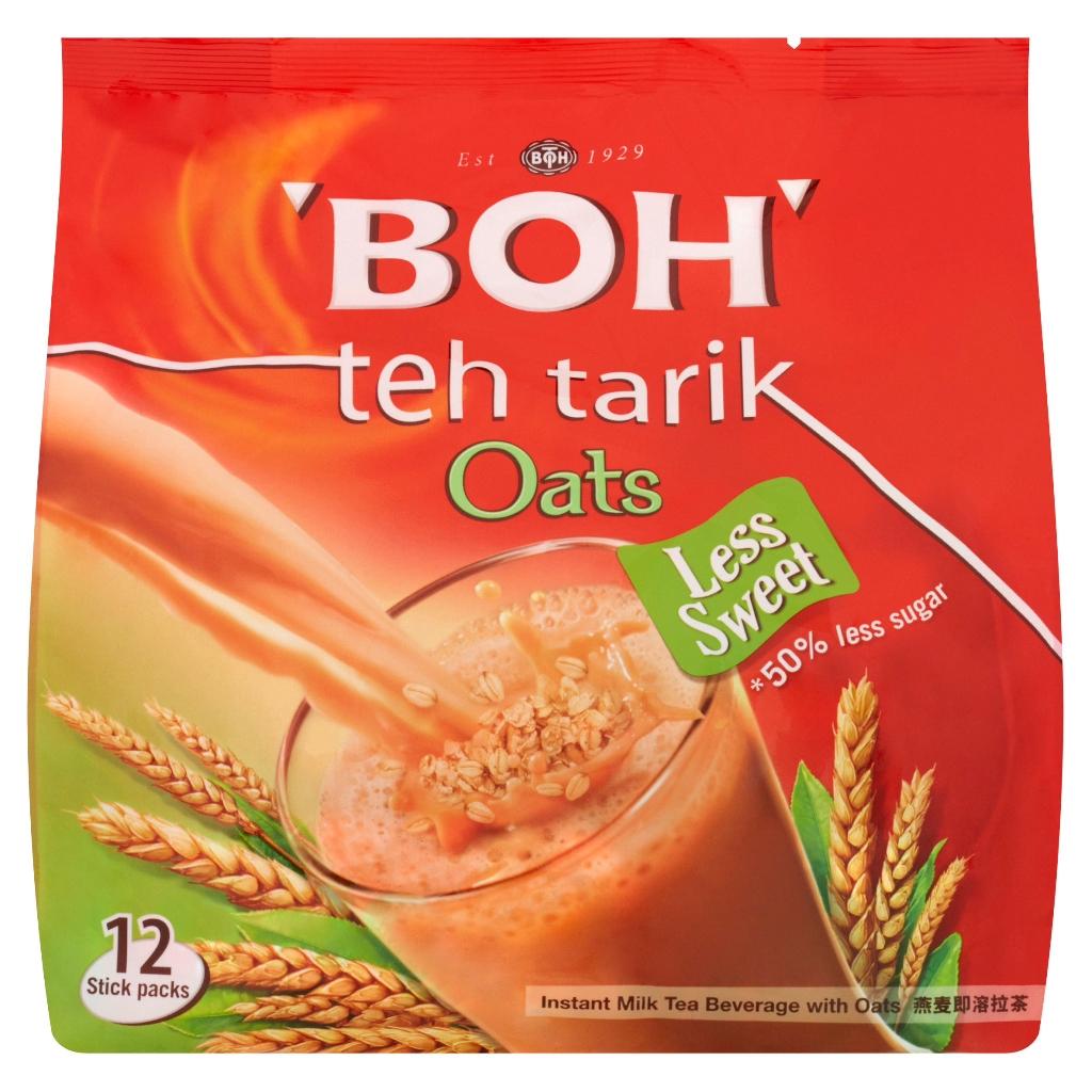BOH Instant Milk Tea Beverage with Oats (12 x 26g)