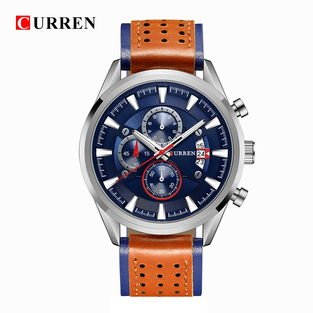 f774c87ff Curren Watch Men Business sport Wrist Watch Quartz Leather relogio  masculino8180