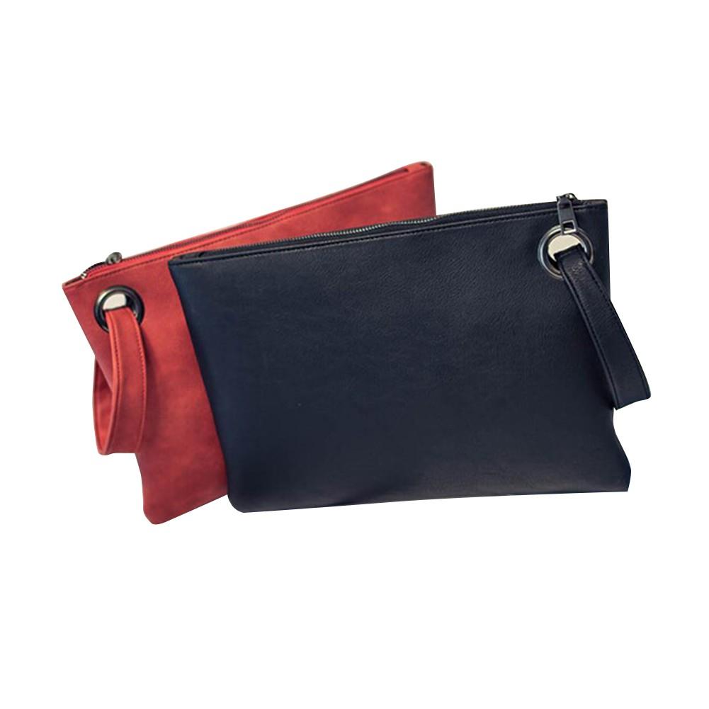 b0a6ca0d8342 Women Evening Party Purse PU Leather Handbag Zipper Clutch Bag