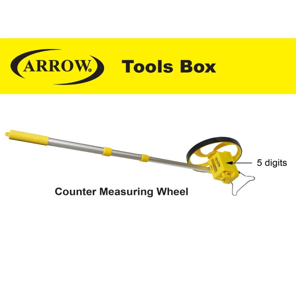 ARROW A88000 COUNTER MEASURING WHEELL 5 DIGITAL HEAVY DUTY MEASURING TAPE EASY USE SAFETY GOOD QUALITY