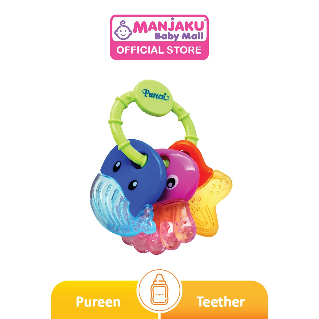 Pureen Water Filled Teether 3's with Detachable Ring