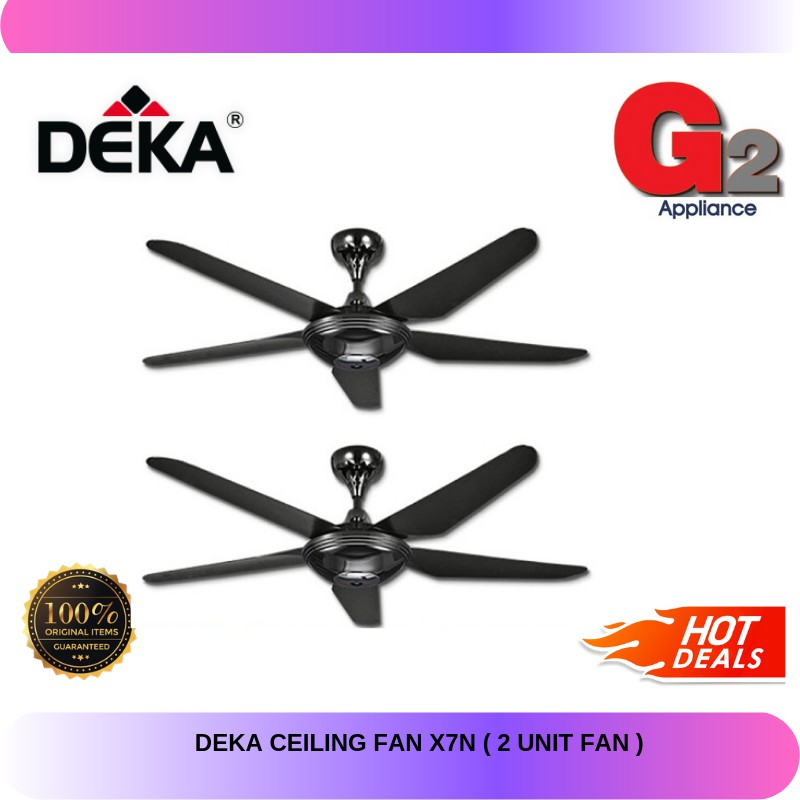 Deka Ceiling Fan X7n 2 Unit Fan