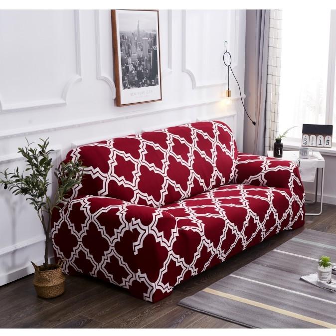 Red 1/2/3/4 Sofa Cover Slipcovers Sofa Tight Wrap All-Inclusive  Slip-Resistant