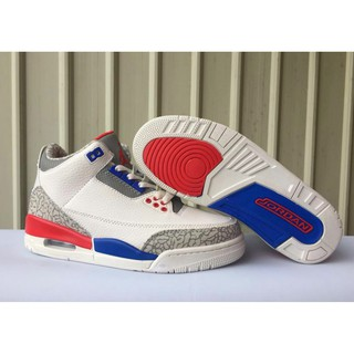 online retailer 60e3e ad85d Nike Air Jordan 3 White red and blue burst pattern in ...
