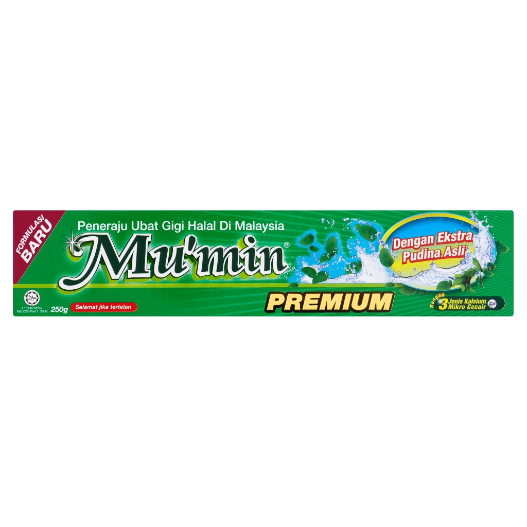 Mu'min Premium Toothpaste with Pudina Flavour (250g)