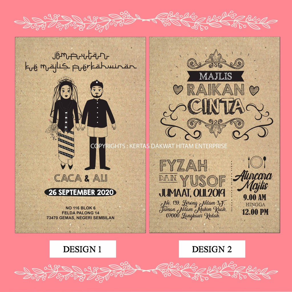 Kad Kahwin Murah Bajet 100 Pcs Shopee Malaysia