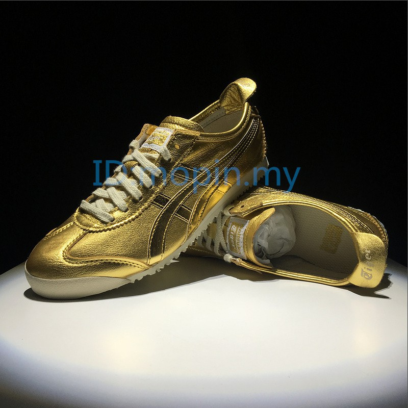 first rate 59810 e7ef4 HN New Authentic Asics onitsuka tiger MEXICO 66 men and women training  shoes gold