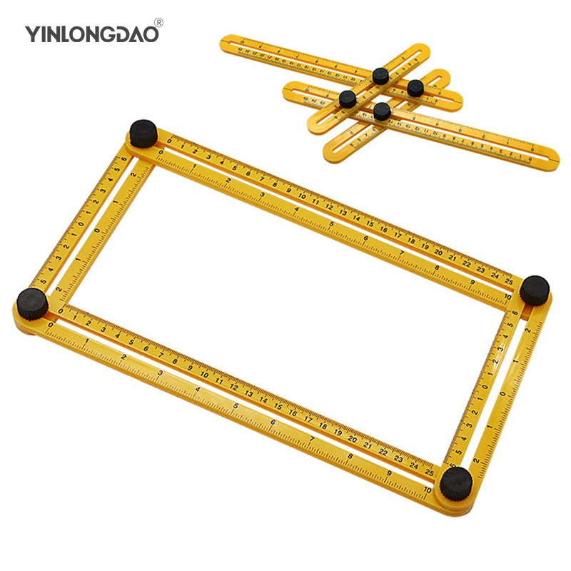 Measuring Instrument Angle-izer Template Tool Four-Sided Ruler Mechanism Slide F