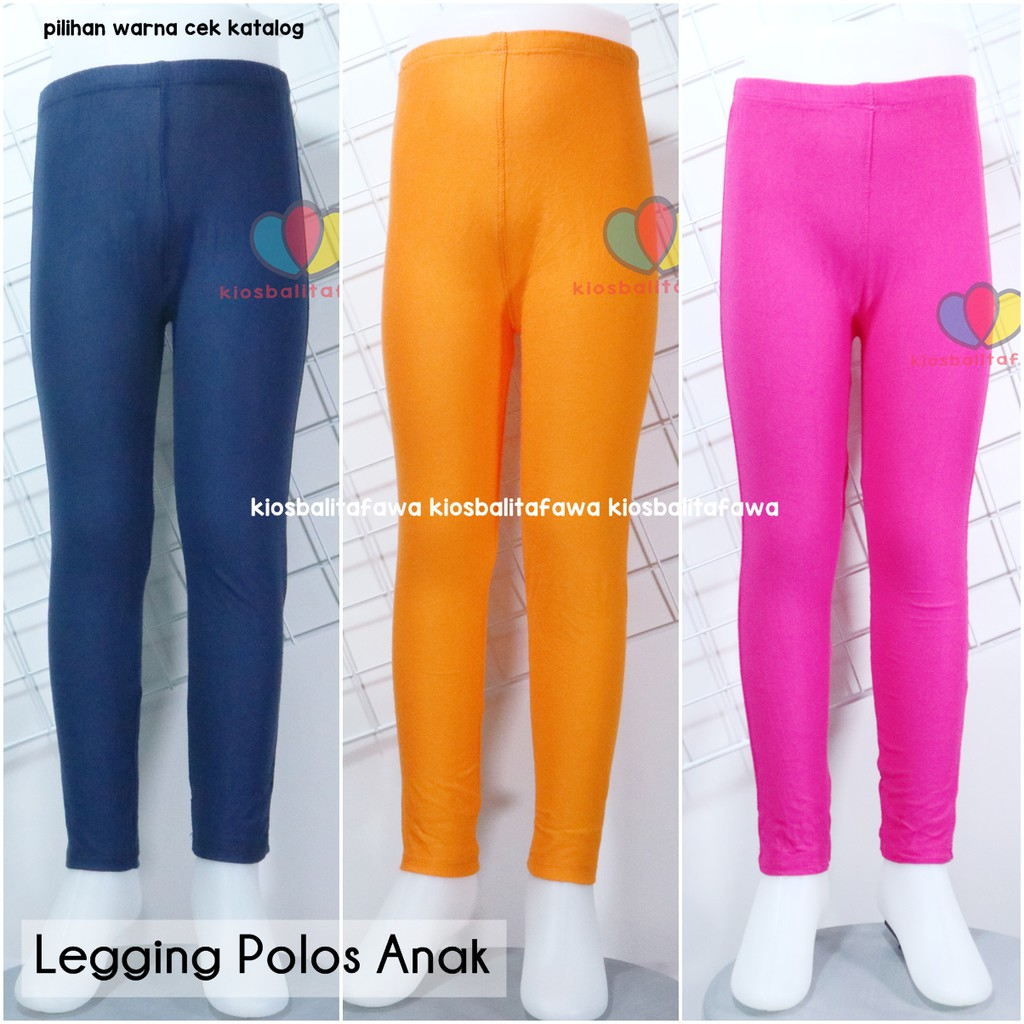 Buy 1 Get 1 Uk 8 12 Years Old Leggings Plain Kids Plain Leggings Long Pants Solid Tights Shopee Malaysia