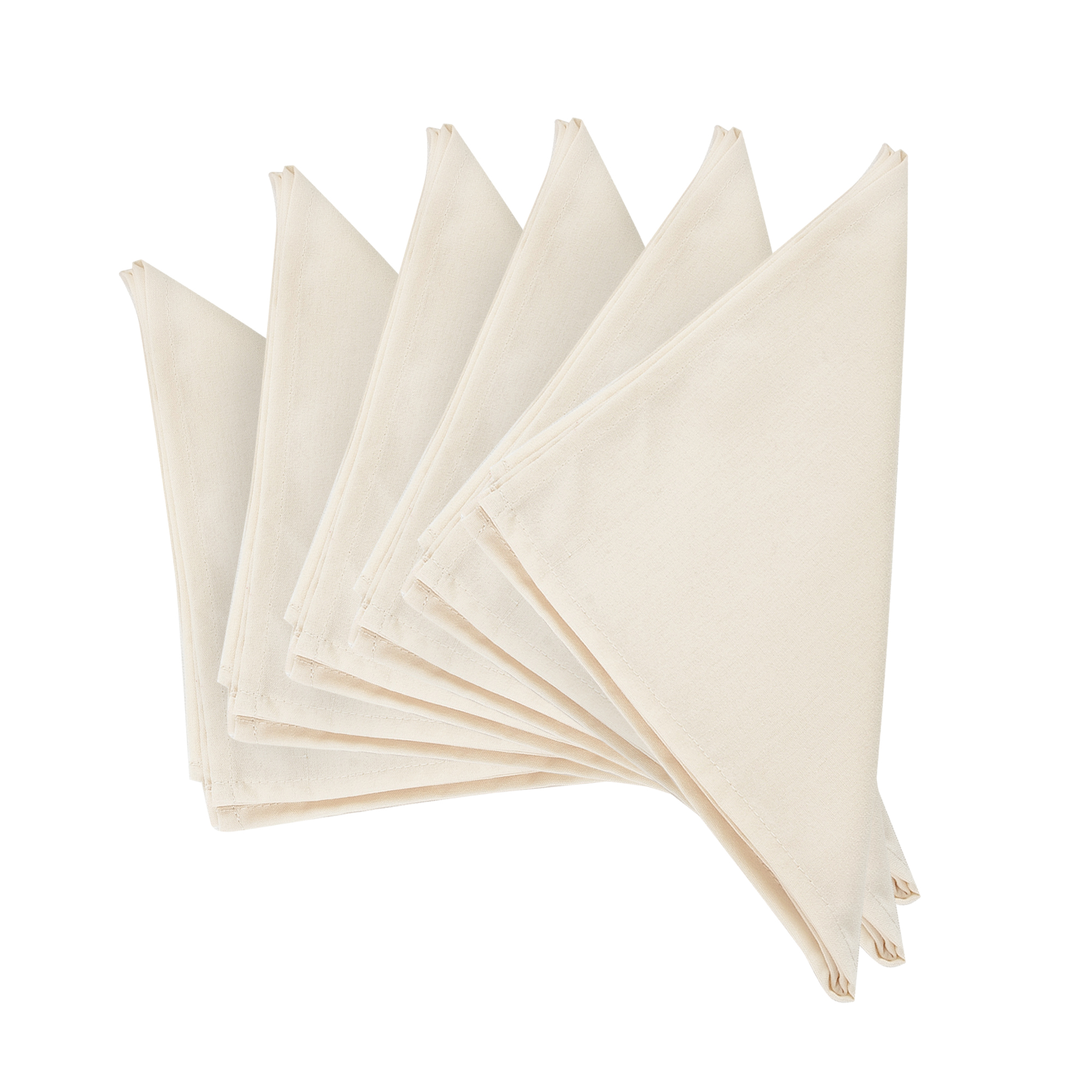 """Plain US Champagne Thick Spun Polyester Dinner Cloth Table Napkins. 51x51cm/20x20"""". Pack of 2 Or 4 Or 6. (Champagne)"""