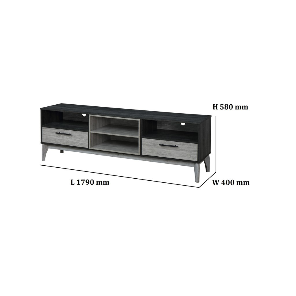 Prkika 6 feets (1.8m) TV Cabinet / Hall Cabinet / Living Room Furniture/ Tv Console