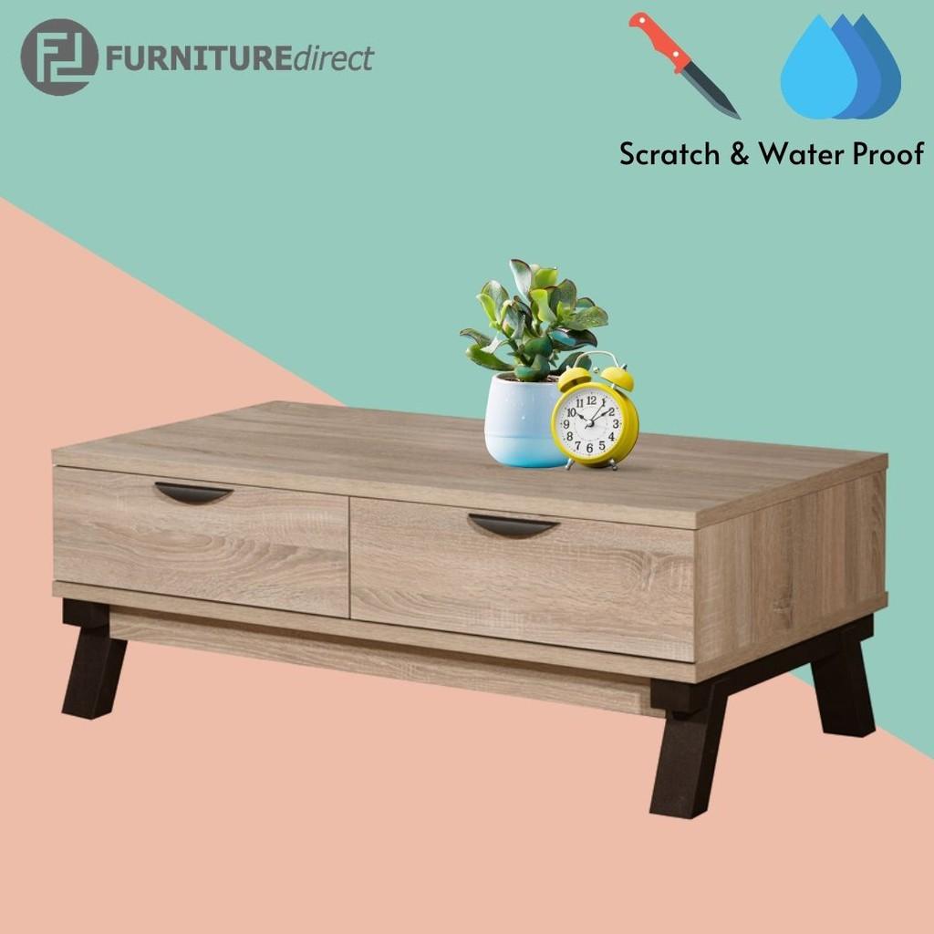 VENIECE 2 drawers scratch and waterproof coffee table/ meja kopi