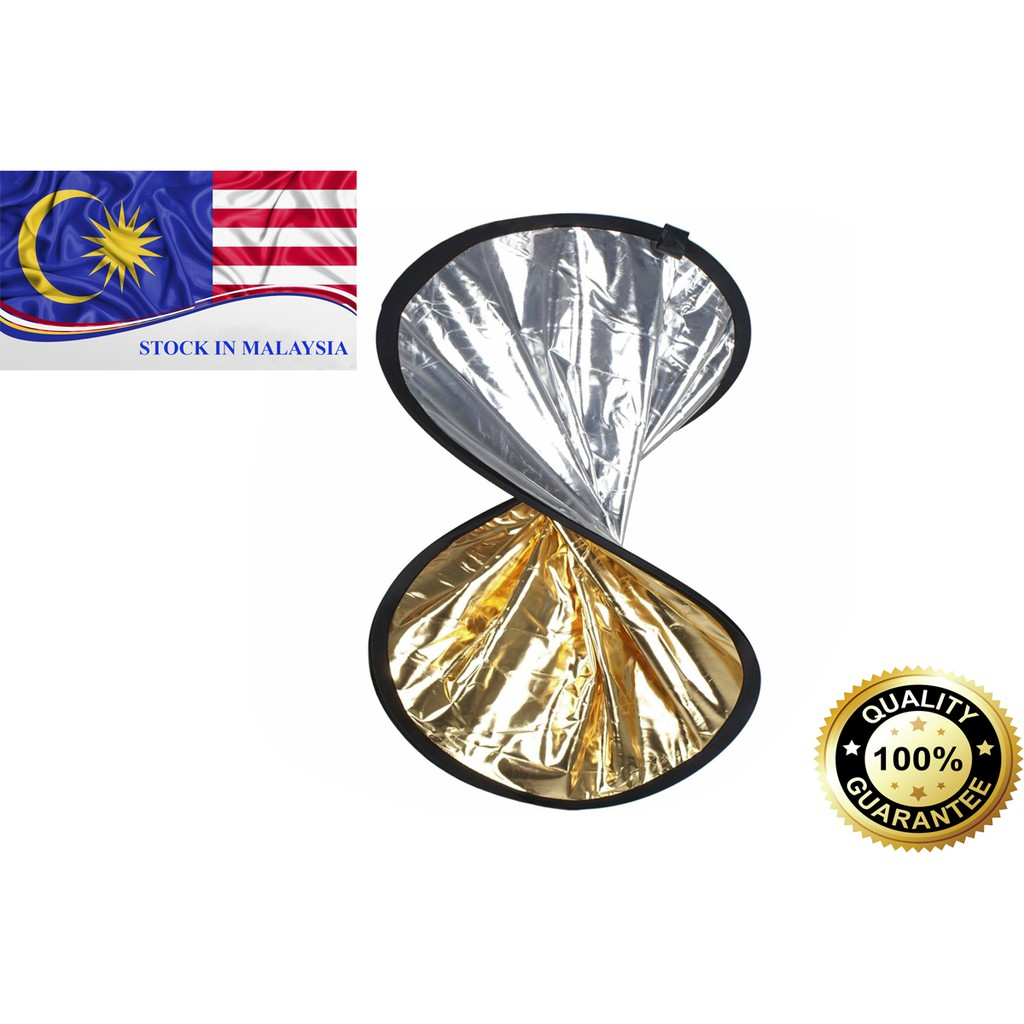 110cm Gold Silver 2 in 1 Collapsible Reflector (Ready Stock In Malaysia)