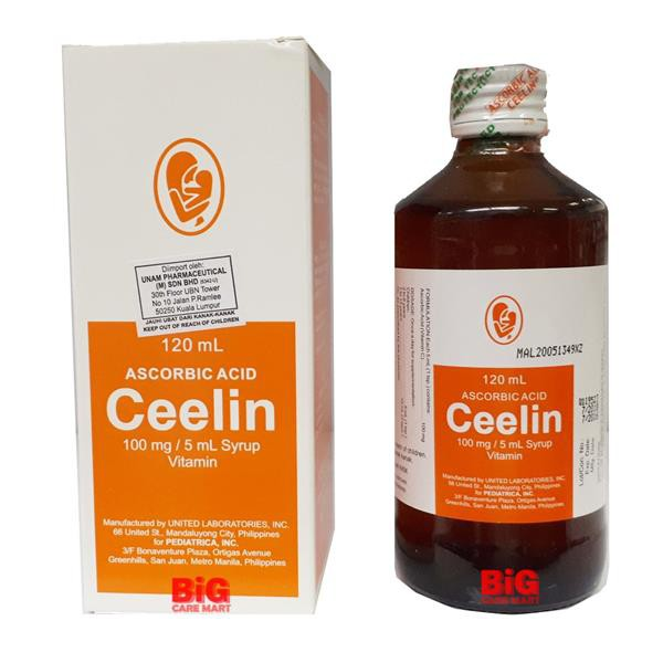 Ceelin Syrup Vitamin C Ascorbic Acid Syrup 100ml