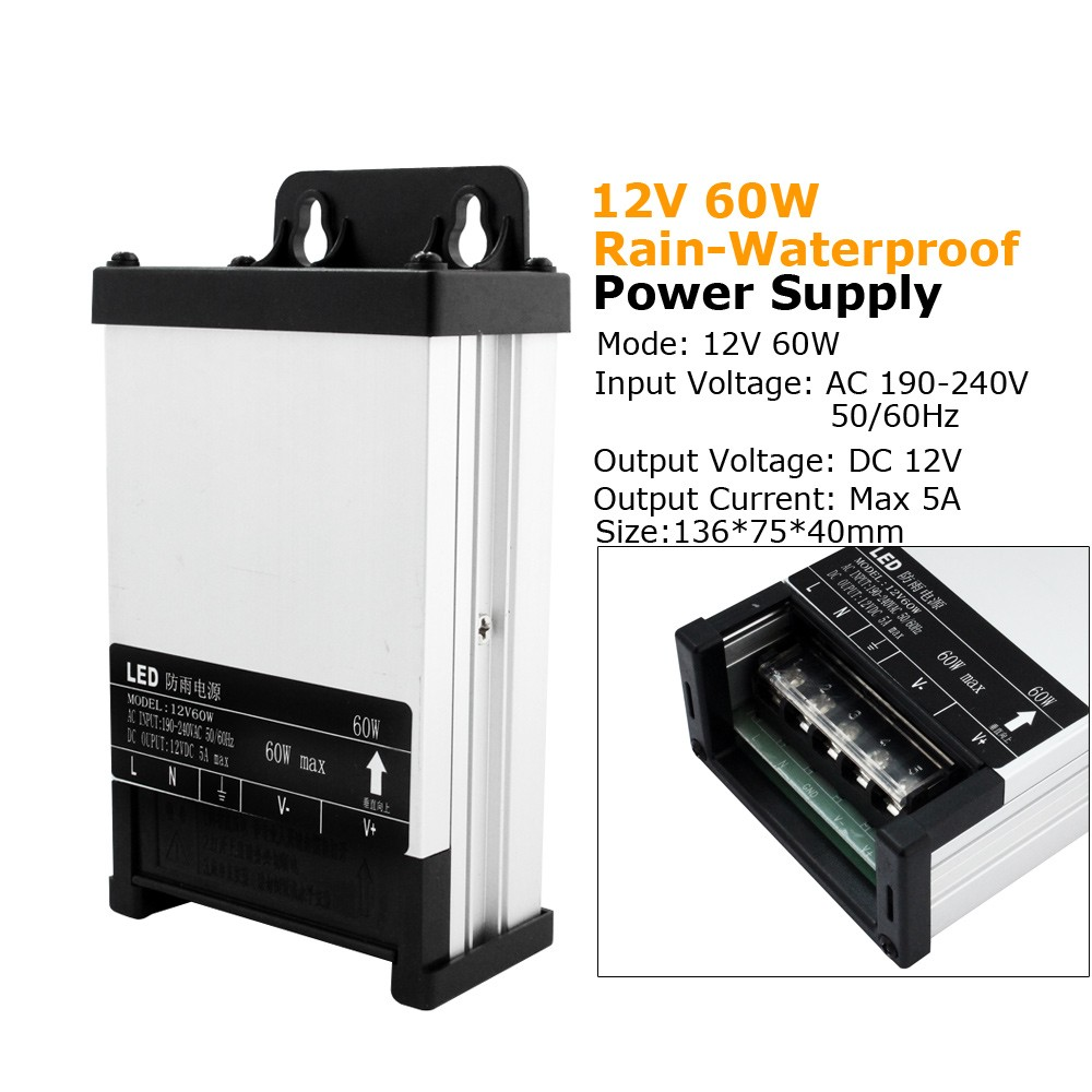 250W DC12v Waterproof Transformer Power Supply Adapter LED Lights 21A UK Stocks
