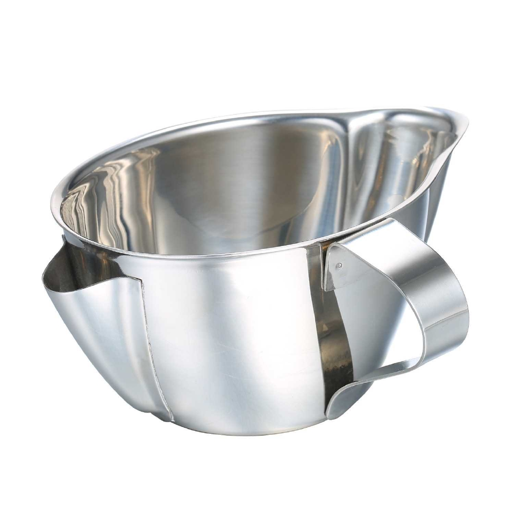 Oil Separator Stainless Steel Oil Filter Soup Oil Separation Pot Grease Oil Filter Strainer Oil Fat Separator Bowl with